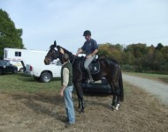 Chris is reunited with Taz and Robin Walker at Fairhill 2012